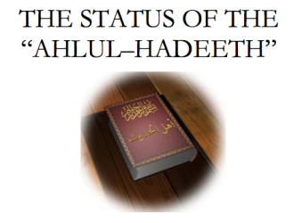 The Status of The Ahl Al-Hadeeth